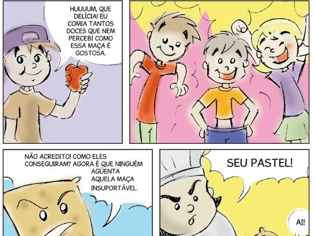 Quadrinhos trazem história divertida para educação (Foto: Banco de Alimentos de Tatuí/Divulgação)