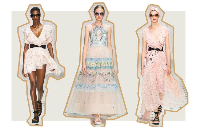 Tons Sorbet: Temperley London (Foto: ImaxTree, Antonio Barros e Getty)