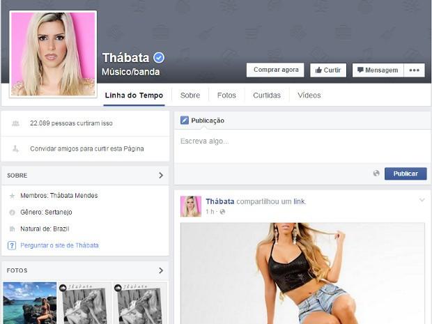 Thábata Mendes foi confirmada como nova parceira musical do guitarrista Chimbinha (Foto: Reprodução / Facebook)