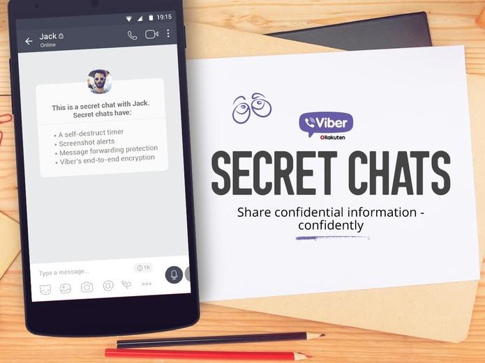 Viber copia Snapchat com fotos secretas (Reprodução/Viber)