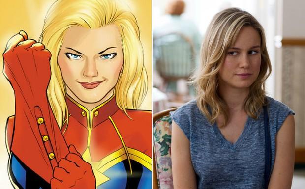 Brie Larson irá interpretar a heroina Capitã Marvel