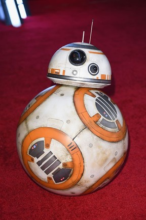 BB-8 em première em Los Angeles, nos Estados Unidos (Foto: Jason Merritt/ Getty Images/ AFP)