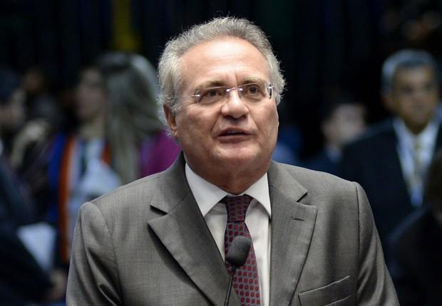 O senador Renan Calheiros (PMDB-AL) em sessão no plenário (Foto: Jefferson Rudy/Agência Senado)