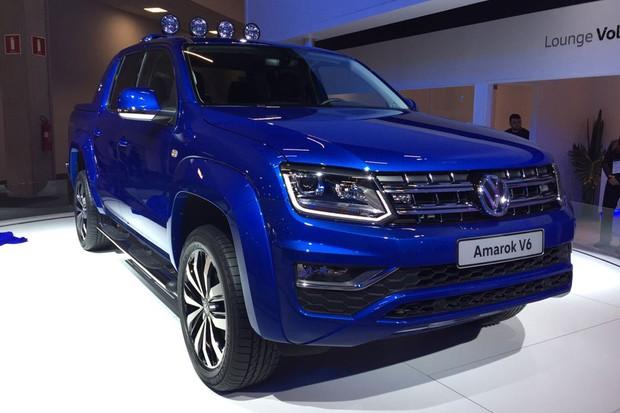 Volkswagen Amarok V6 no Salão do Automóvel 2016 (Foto:   Autoesporte)
