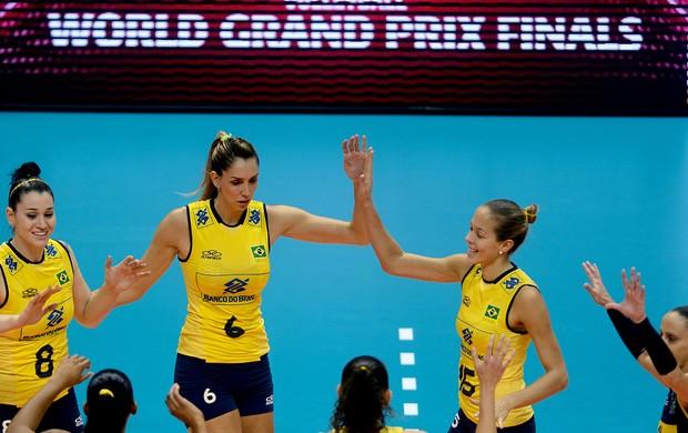 Seleção brasileira feminina 3 x 0 Itália, Grand Prix vôlei (Foto: Divulgação / FIVB)