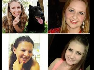 Quatro catarinenses morreram durante incêndio na Boate Kiss, em Santa Maria (Foto: Arquivo Pessoal/Divulgação)