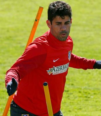 Diego Costa treino Atlético de Madrid (Foto: Reprodução / Site Oficial)
