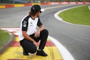 Fernando Alonso no circuito de Spa-Francorchamps, palco do GP da Bélgica (Foto: Divulgação)