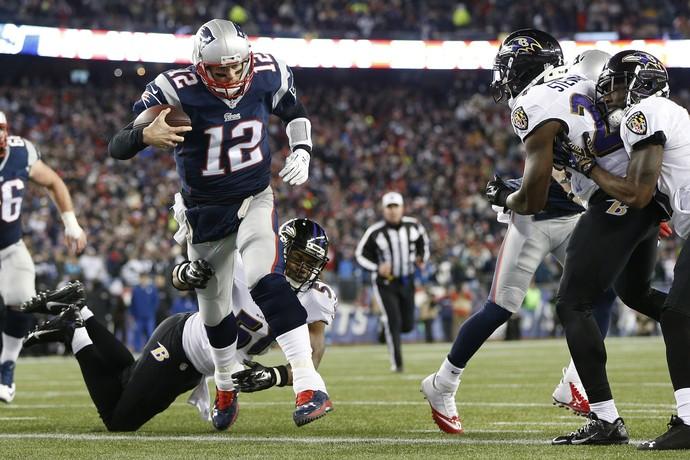 Tom Brady - New England Patriots x Baltimore Ravens playoffs NFL (Foto: Reuters)
