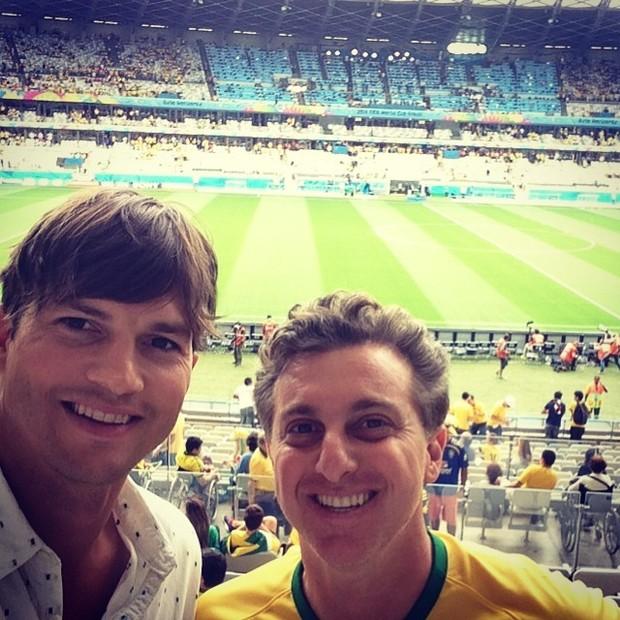 Ashton Kutcher e Luciano Huck (Foto: Instagram / Reprodução)