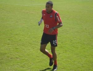 Goleiro Rodolfo, do Atlético-PR, no CT do Caju (Foto: Fernando Freire/GLOBOESPORTE.COM)