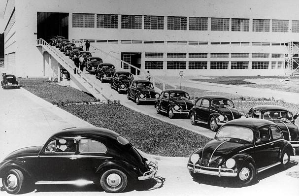 Inauguração da fábrica da Volkswagem em São Bernardo do Campo, 1959 (Foto: Divulgação)