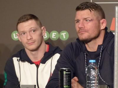 Michael Bisping coletiva UFC Glasgow (Foto: José Geraldo Azevedo)