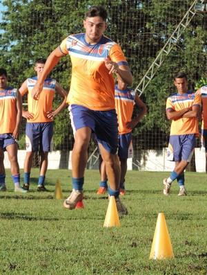 Treinos físicos Grêmio Prudente - Igor Prado (Foto: João Paulo Tilio / GloboEsporte.com)