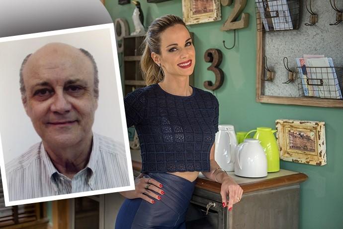 Ana Furtado com seu pai (Foto: Renato Rocha Miranda/TV Globo e Arquivo Pessoal)