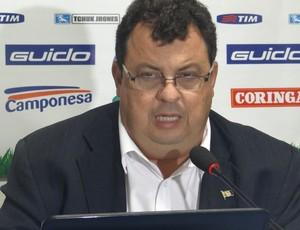 Jorge Setxo, presidente do CSA (Foto: Paulo Victor Malta/GLOBOESPORTE.COM)