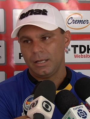 Wagner Bueno, goleiro do Vila Nova (Foto: Reprodução/TV Anhanguera)