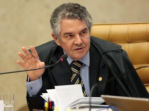 O ministro Marco Aurélio Mello em sessão do STF (Foto: Carlos Humberto/SCO/STF)