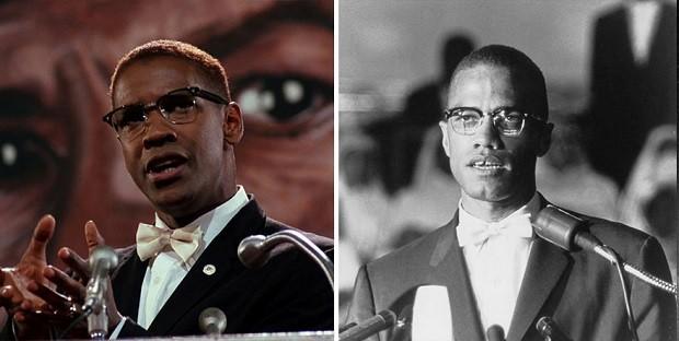 Denzel Washington e Malcolm X (Foto: Divulgação)