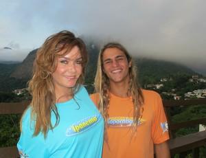 Nas Ondas do Rio Luize e Caio Vaz (Foto: Gabriele Lomba / GLOBOESPORTE.COM)