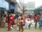Grupos pedem habitação em terrenos desocupados do DF durante protesto