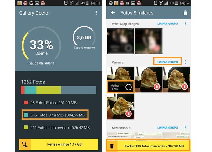 Busca de imagens similares da galeria do Android (Foto: Reprodução/Barbara Mannara)