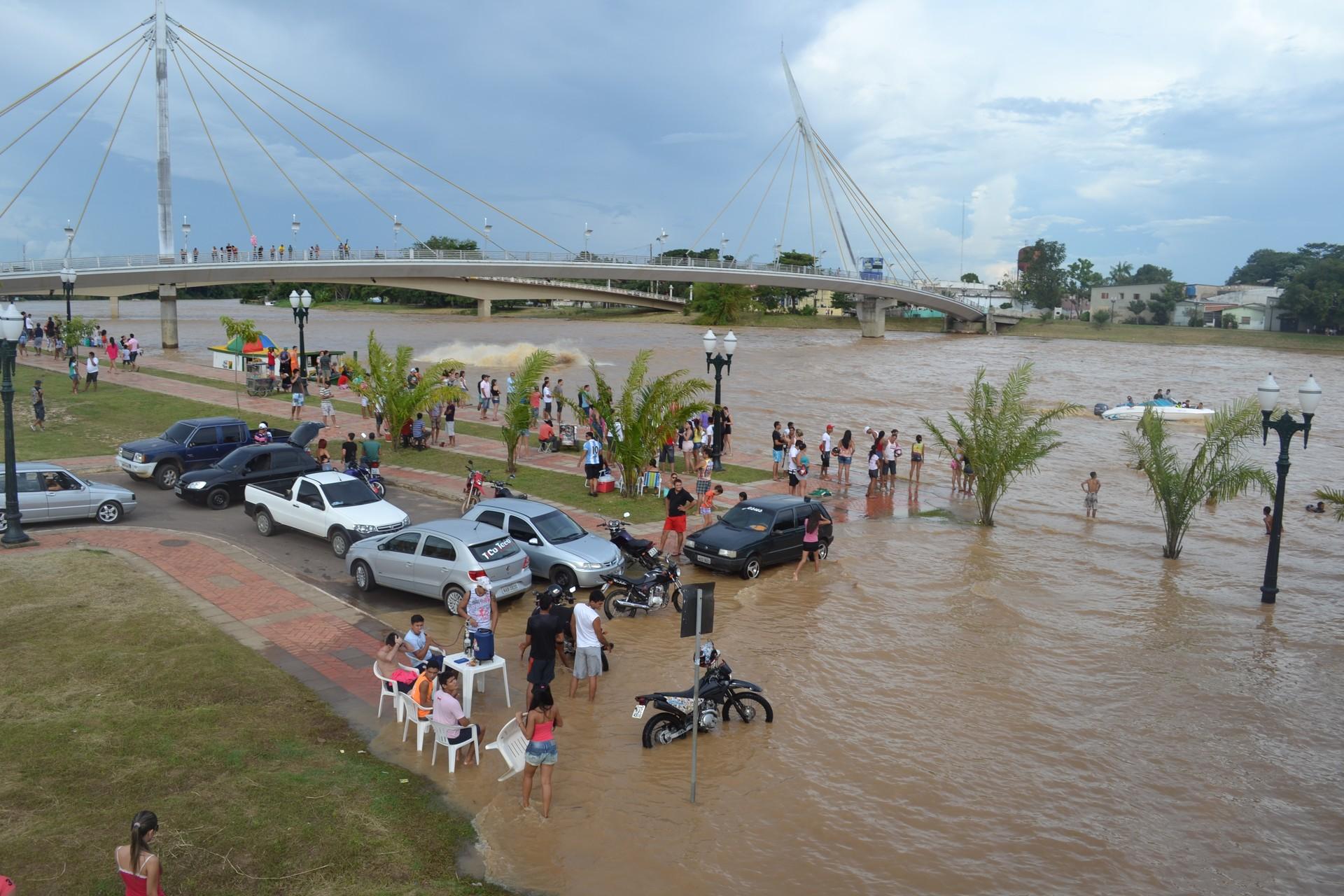 Confira nesta edição, os dados atualizados da cheia do Rio Acre  (Foto: Duaine Rodrigues)