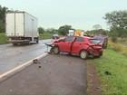 Acidente entre quatro carros deixa uma pessoa morta em Cascavel