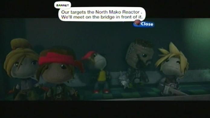 Remake de Final Fantasy 7 em LittleBigPlanet 3 recria até as cenas da história (Foto: Divulgação)
