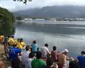 Torcida improvisa camarote na Lagoa e tira casquinha da final de Isaquias
