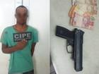 Homem é preso após realizar assaltos usando arma de brinquedo