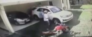 Promotor leva três tiros na porta de casa em Manaus; veja o VÍDEO (Reprodução/Rede Amazônica)