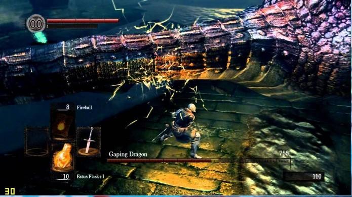 Corte a cauda de Gaping Dragon o mais rápido possível (Foto: Reprodução/Youtube)