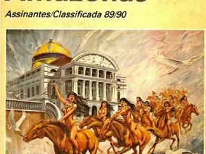 Trabalho de Stevenson ilustrou capa de lista telefônica nos anos 1980, no Amazonas (Foto: Reprodução)