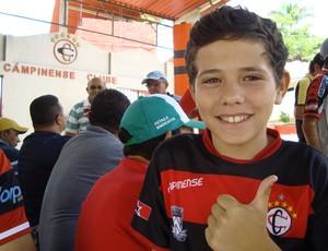 Lucas Ferreira, torcedor do Campinense, Paraíba (Foto: Larissa Keren / Globoesporte.com/pb)
