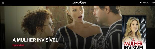 'A mulher invisível' no Globo Play (Foto: Divulgação/Globo Play/G1)