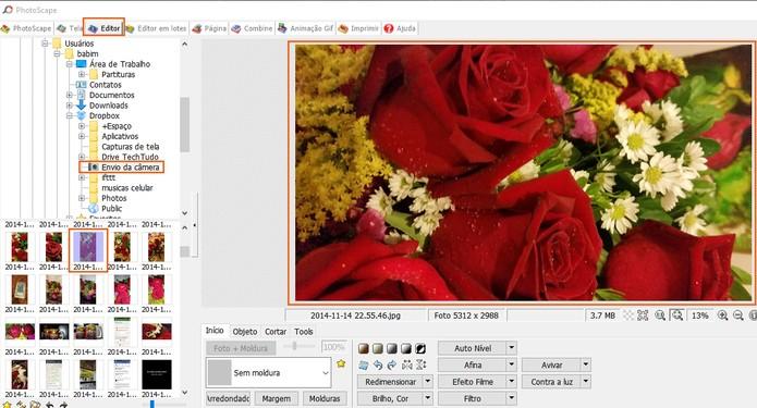 Selecione a foto no computador para editar no Photoscape (Foto: Reprodução/Barbara Mannara)