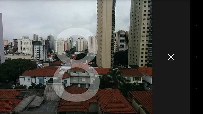Uma das novidades da câmera do Android é a função timer (Foto: Reprodução/Paulo Alves)