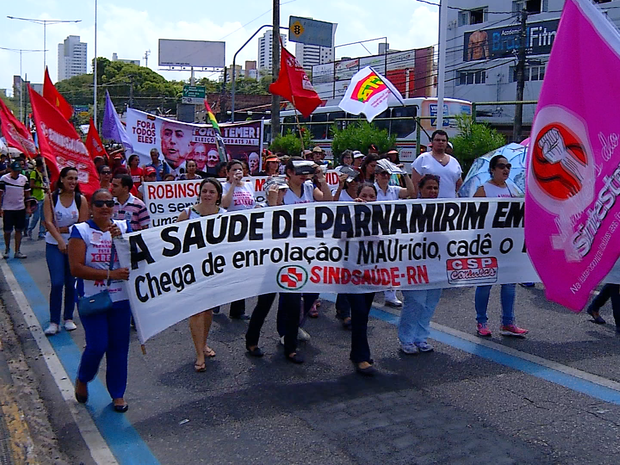 Segundo a PRF, cerca de 200 manifestantes participaram do ato  (Foto: Clayton Carvalho/Inter TV Cabugi)