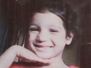 Emanuele Vitória, 5 anos, desaparecida após rompimento de barragem (Foto: G1)