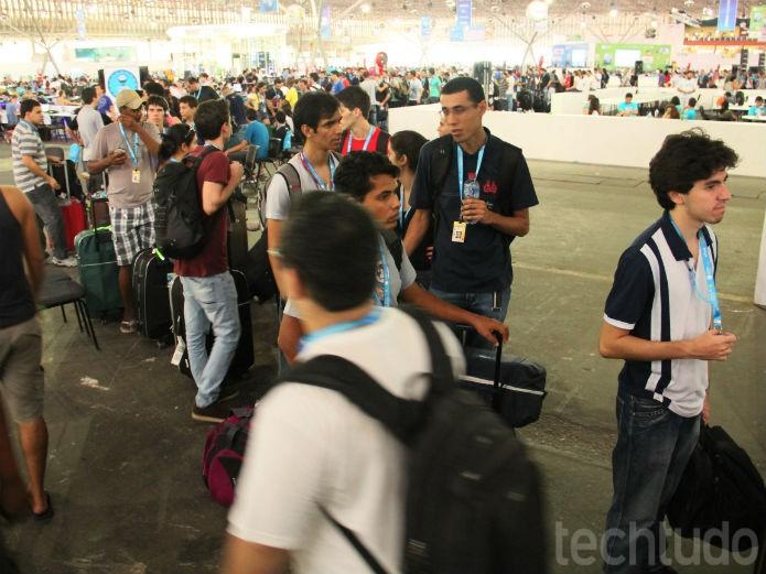 A entrada de tantos participantes acabou engarrafando as coisas (Foto: TechTudo/Renato Bazan)