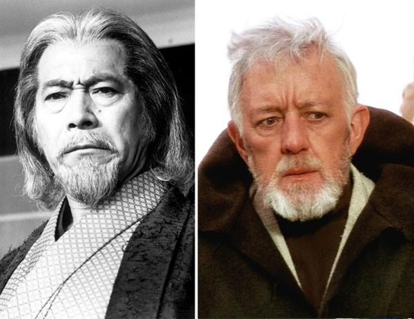 Toshiro Mifune e Alec Guinness poderiam ser Obi-Wan Kenobi. O japonês não ficou com o papel. (Foto: divulgação)