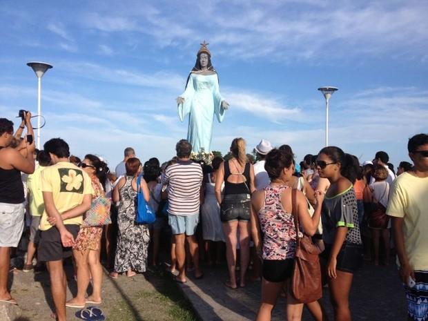 Estátua de Iemanjá em Vitória, no Espírito Santo, completa 25 anos (Foto: Álvaro Zanotti)