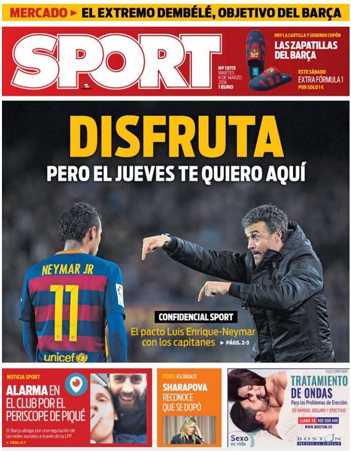 Capa Sport Neymar (Foto: Reprodução)