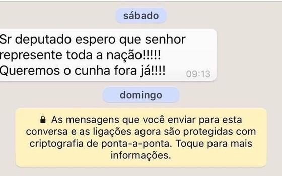 Eleitores pressionam relator do caso de Eduardo Cunha via Whatsapp (Foto: Reprodução)