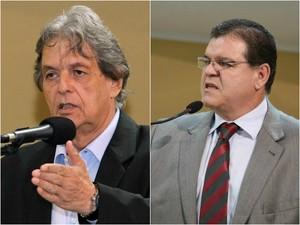 Montagem mostra Paulo Pedra e Eduardo Cury (Foto: Izaias Medeiros/Câmara Municipal)