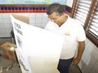 Flávio Dino vota na capital maranhense (Biné Morais / O Estado)