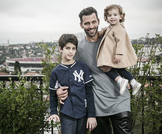 Henri se diz realizado com os dois filhos que tanto sonhou (Foto: Raphael Dias/Gshow)