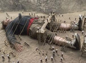 Jack Black interpreta o 'gigante' Gulliver (Foto: Divulgação)