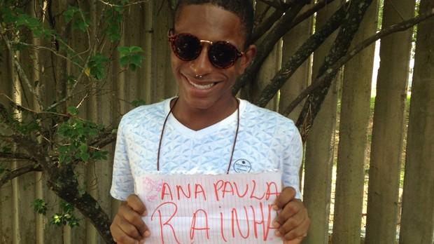 Felipe Dias perdeu o emprego para ver Ana Paula (Foto: Multishow)